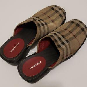 Burberry Nova Check Clog Size 7 - 37 Slightly Used